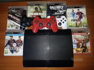 PlayStation 3 Slim 500 Gb + 6 videogiochi