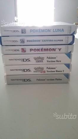 Pokemon DS e 3DS collezione completa