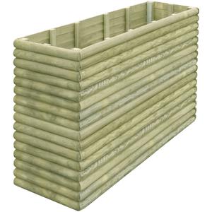 vidaXL Fioriera da giardino 206x56x96 cm in legno di pino