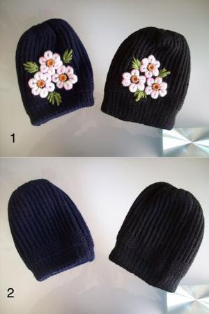 Cappello Cappellino lana bambina e donna 2 modelli