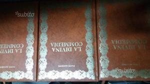 Tre libri da collezione della divina commedia