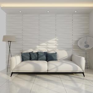 vidaXL Pannello da parete 3D Onda  mx 0,8 m 12 pannelli