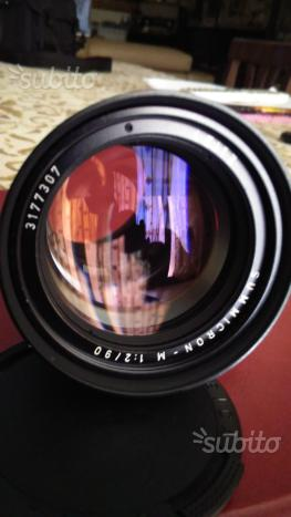 Leica leitz M 90mm f/2 summicron con paraluce inco
