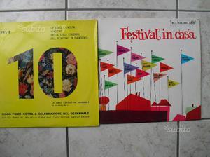 N.2 dischi FESTIVAL S.REMO 33 giri vinile