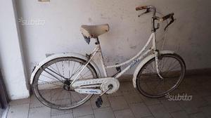 Bicicletta da donna vintage da 24 atala bianca