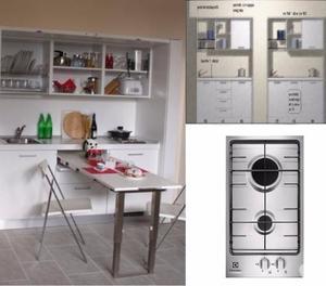 Cucina monoblocco a scomparsa drs 02cm forno posot class - Cucina monoblocco a scomparsa ...