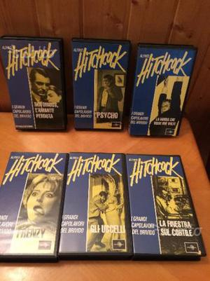 13 VHS ALFRED HITCHCOCK da collezione originali