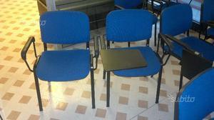 16 Sedie da ufficio blu con e senza scrittoio