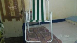 3 sedie pieghevoli ben tenute