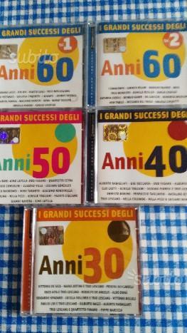 5 CD musicali: I GRANDI SUCCESSI ANNI