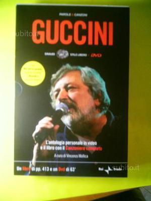 Guccini antologia personale e il libro con il canz