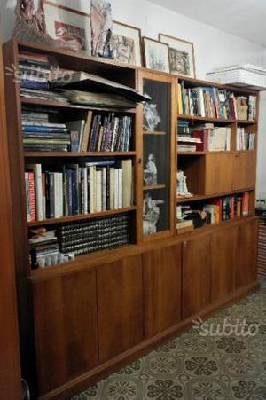 Libreria in legno anni '60