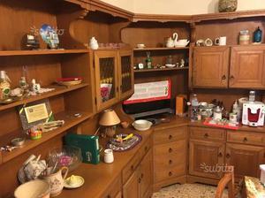 Mobile angolare in legno antico per ingresso posot class - Mobile cucina angolare ...