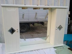 Mobile bagno stondato cm 90 bianco opaco posot class for Mobile bianco per bagno