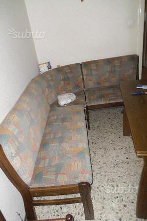 Tavolo con panca ad angolo milano posot class for Panca angolo