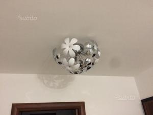 Plafoniera Fiori : Globo plafoniera metallo cromo lampadine escluse posot class