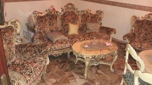 Divano poltrone barocco veneziano posot class for Sala da pranzo barocco piemontese