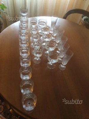 Servizio bicchieri in cristallo