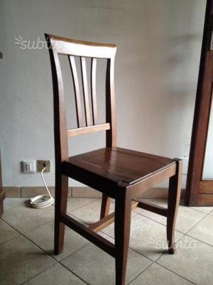 Tavolo allungabile con 6 sedie in noce