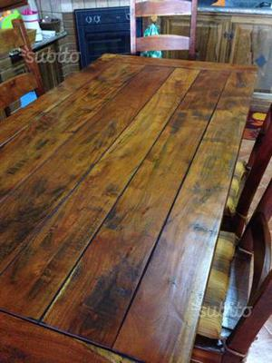 Tavolo chateaux con sei sedie