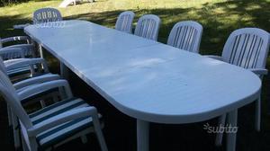 Tavolo + sedie da giardino