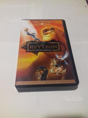 """Vhs in spagnolo """"el rey leon"""" walt disney"""
