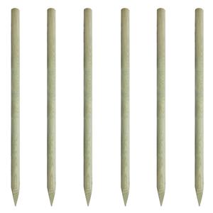vidaXL Set 6 pz Pali di Recinzione in Legno Appuntiti 200 cm