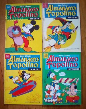 Almanacco Topolino anni 50 e 60