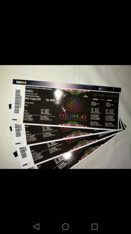 Vendo 2 biglietti x concerto COLDPLAY 4 luglio PRATO