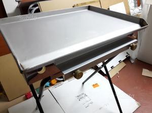 Griglia barbecue a gas 60x45 cm in acciaio inox
