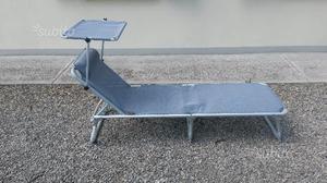 Lettino sdraio sedia da spiaggia campeggio