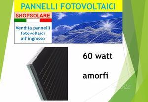 Pannelli solari fotovoltaici 80 watt - lotto 82 pz