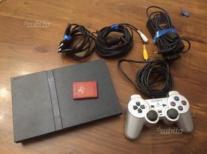 Playstation 2 SLIM + 8 giochi + joystick + memory