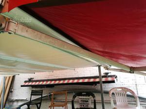 Tenda da sole in pvc rossa 350x300 con cassonetto