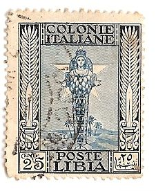 Colonie italiane Libia 25 centesimi
