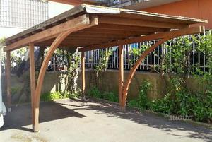 Gazebo in legno 5mt x 3,20mt 400 trattabili