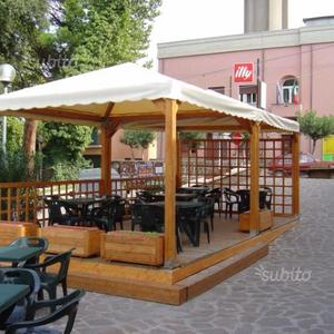 Gazebo Legno Per Bar.Gazebo In Legno M 2 5x2 5 Posot Class
