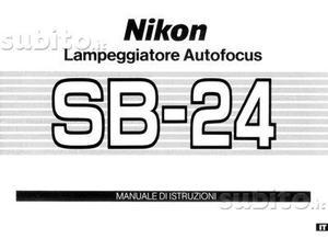 Libretto Nikon SB