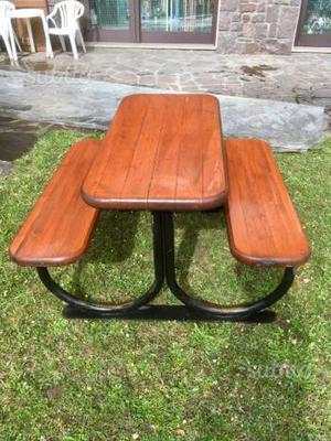 Tavolo e panche 8 posti in legno x esterno posot class - Tavoli legno esterno giardino ...