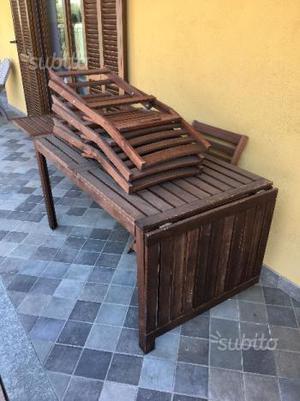 Tavolo da giardino allungabile esterno in legno posot class - Tavolo in legno da giardino ...