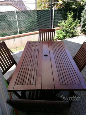 Tavolo sedie giardino