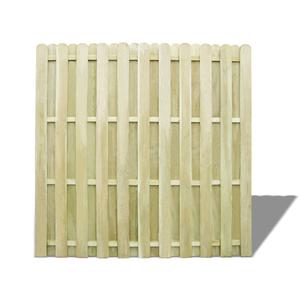 vidaXL Pannello Recinzione in Legno di Pino Verde 180x180 cm