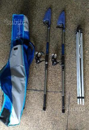 Kit canne da pesca carbonio