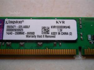 Ram DDR3 4G per pc fisso