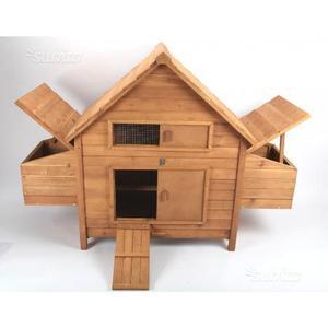 Pollaio voliera recinto x polli e galline posot class for Conigliera in legno