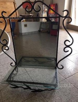 Stand appendi abiti in ferro battuto per posot class for Appendi specchio