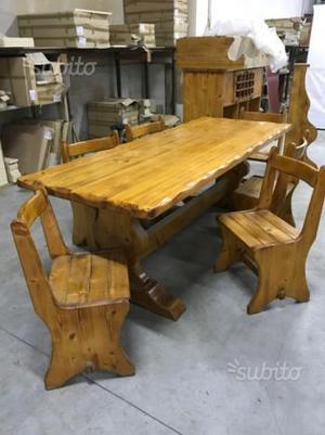 Tavolo e sedie pino massello