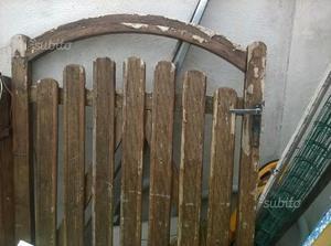 Arco da giardino in acciaio con cancello posot class for Giardino rustico traliccio decorativo