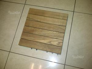 Mattonelle cm 30x30 sp 25 in legno per esterno posot class
