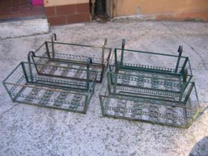Fioriere portavasi da balcone in ferro 96 x 22 cm posot for Fioriere in ferro